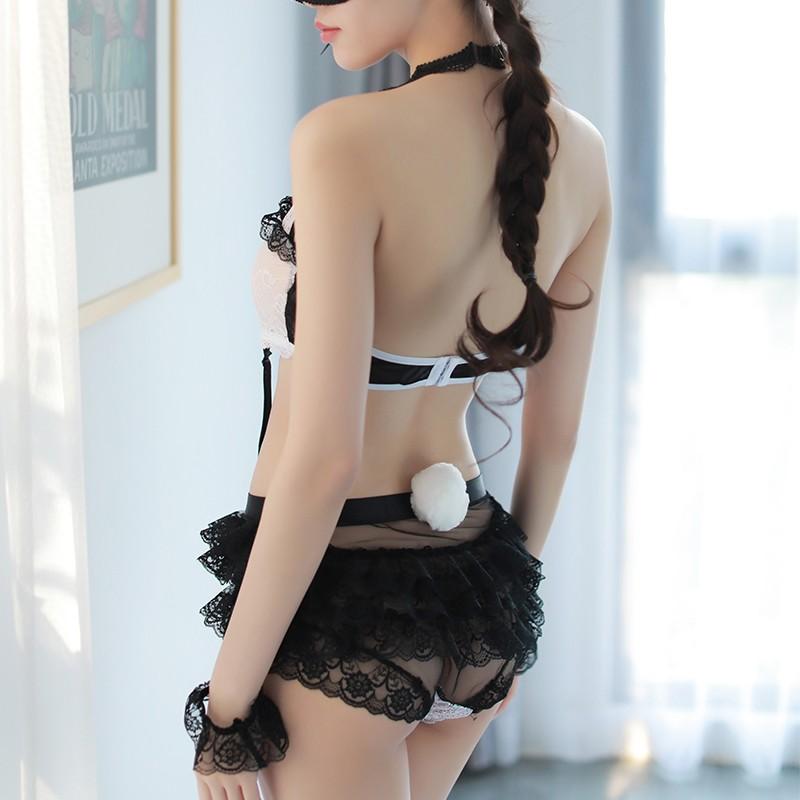 瑰若 活泼可爱挂扣兔女郎套装