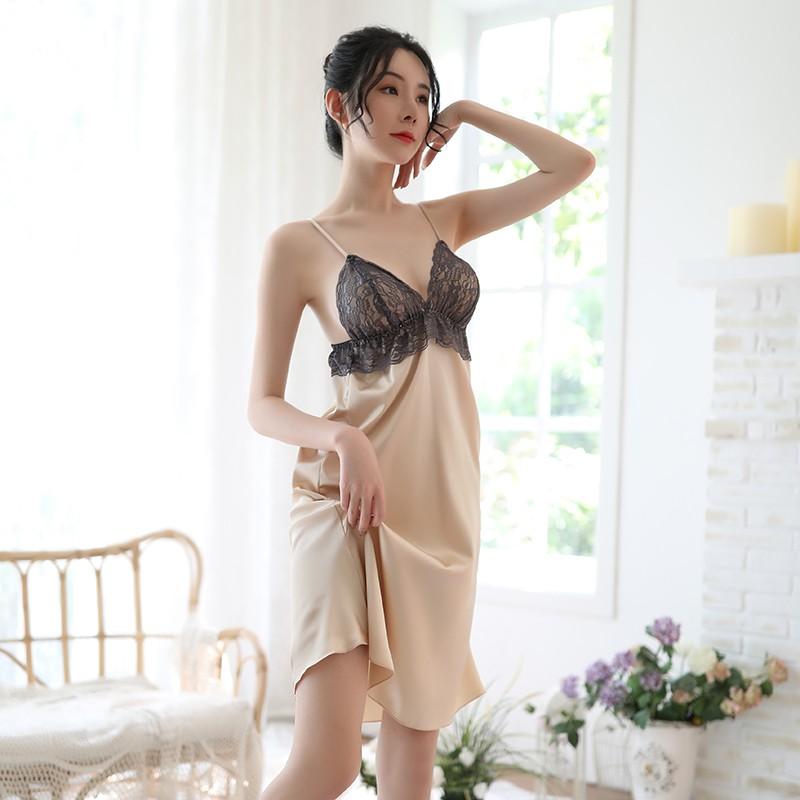 【新品】品贤 吊带女士性感蕾丝诱惑镂空睡衣
